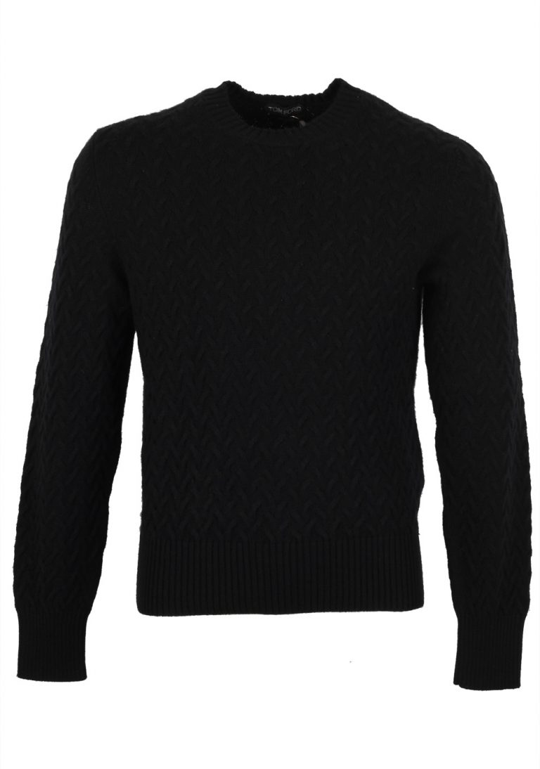 TOM FORD Black Crew Neck Sweater Size 48 / 38R U.S. In Wool Cashmere - thumbnail | Costume Limité