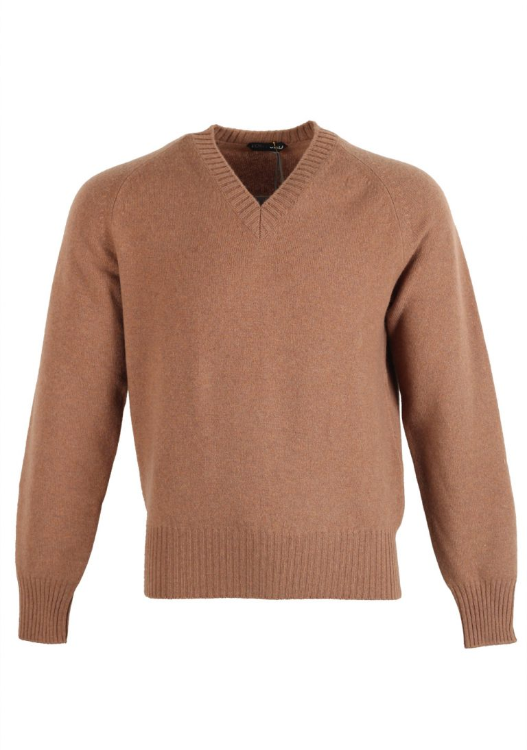 TOM FORD Brown V Neck Sweater Size 48 / 38R U.S. In Wool - thumbnail | Costume Limité