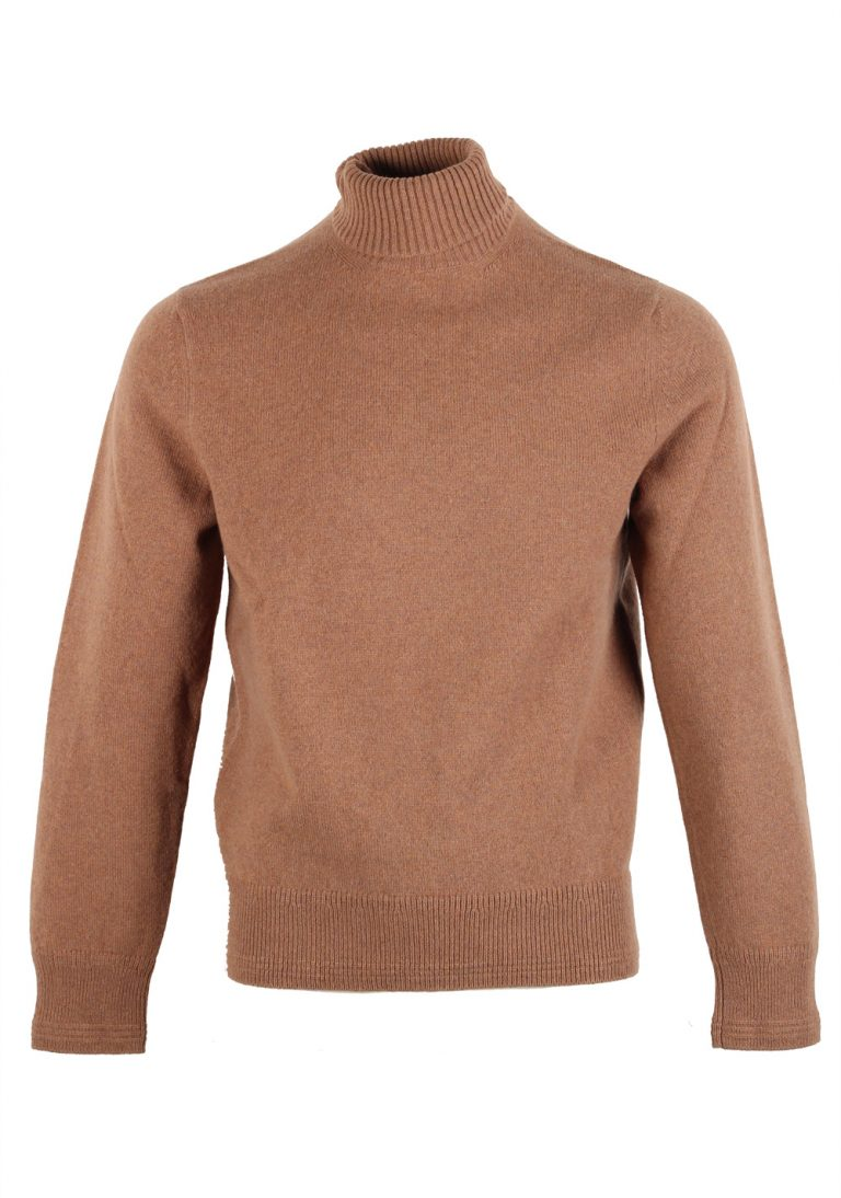 TOM FORD Brown Turtleneck Sweater Size 48 / 38R U.S. In Wool - thumbnail | Costume Limité