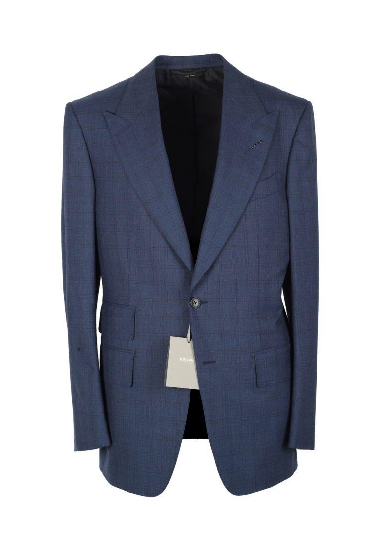 TOM FORD Windsor Blue Suit Size 52 / 42R U.S. Wool Fit A - thumbnail | Costume Limité
