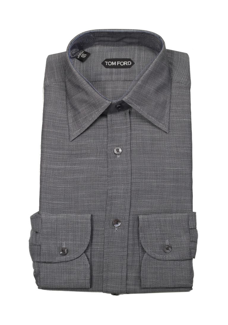 TOM FORD Patterned Gray Shirt Size 40 / 15,75 U.S. - thumbnail | Costume Limité