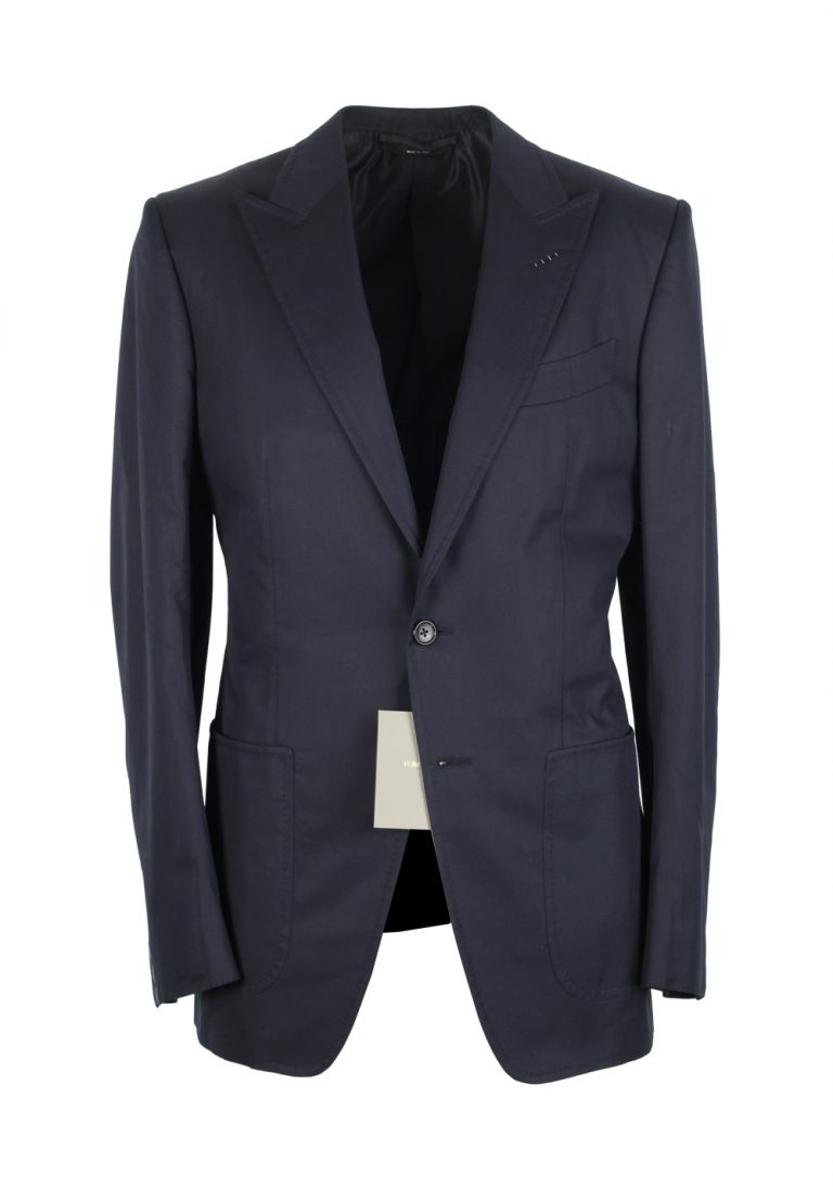 TOM FORD O'Connor Navy Sport Coat Size 46 / 36R U.S. Cotton Fit Y - thumbnail | Costume Limité