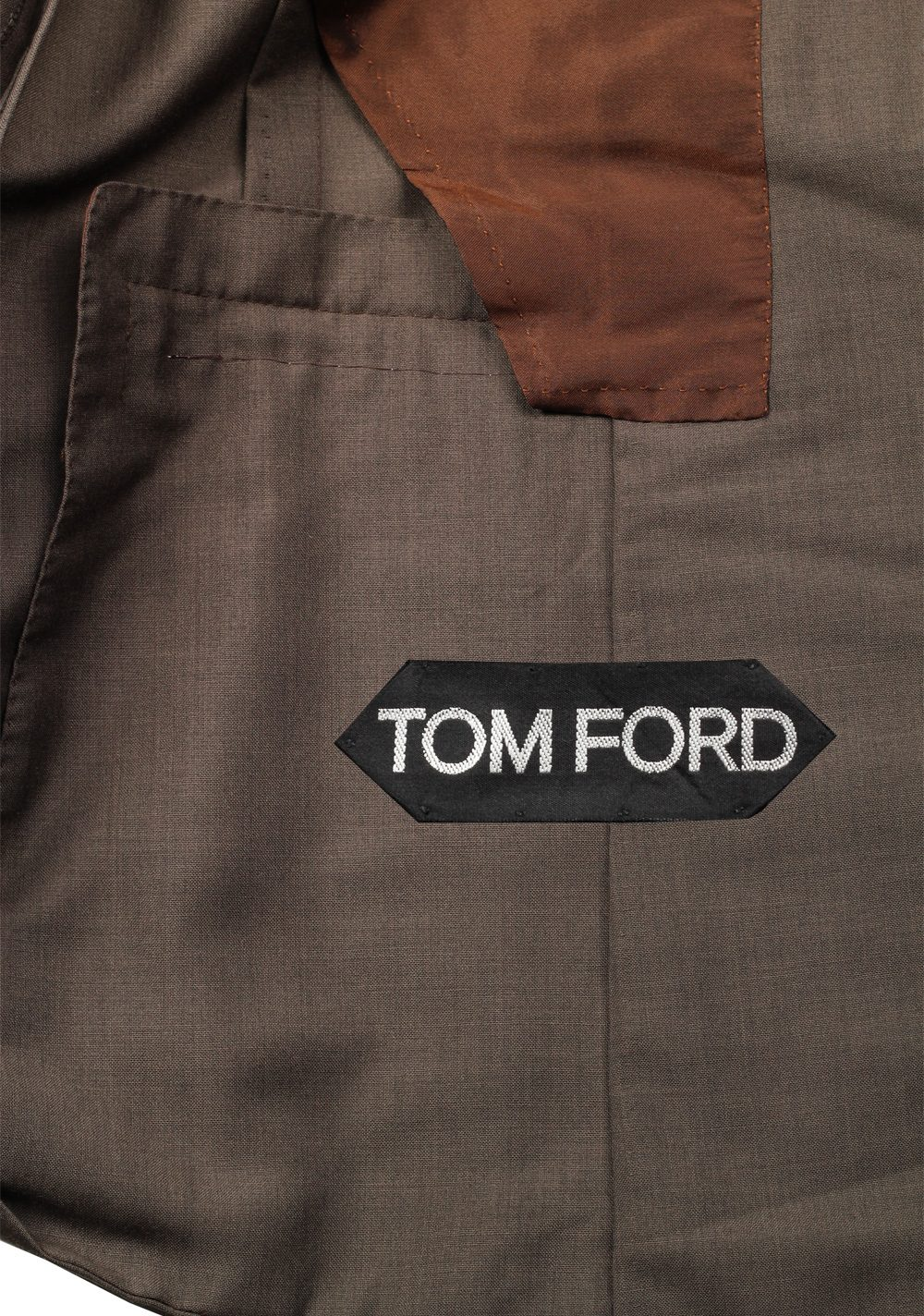 TOM FORD Shelton Brown Suit Size 46 / 36R U.S. In Mohair Wool | Costume Limité