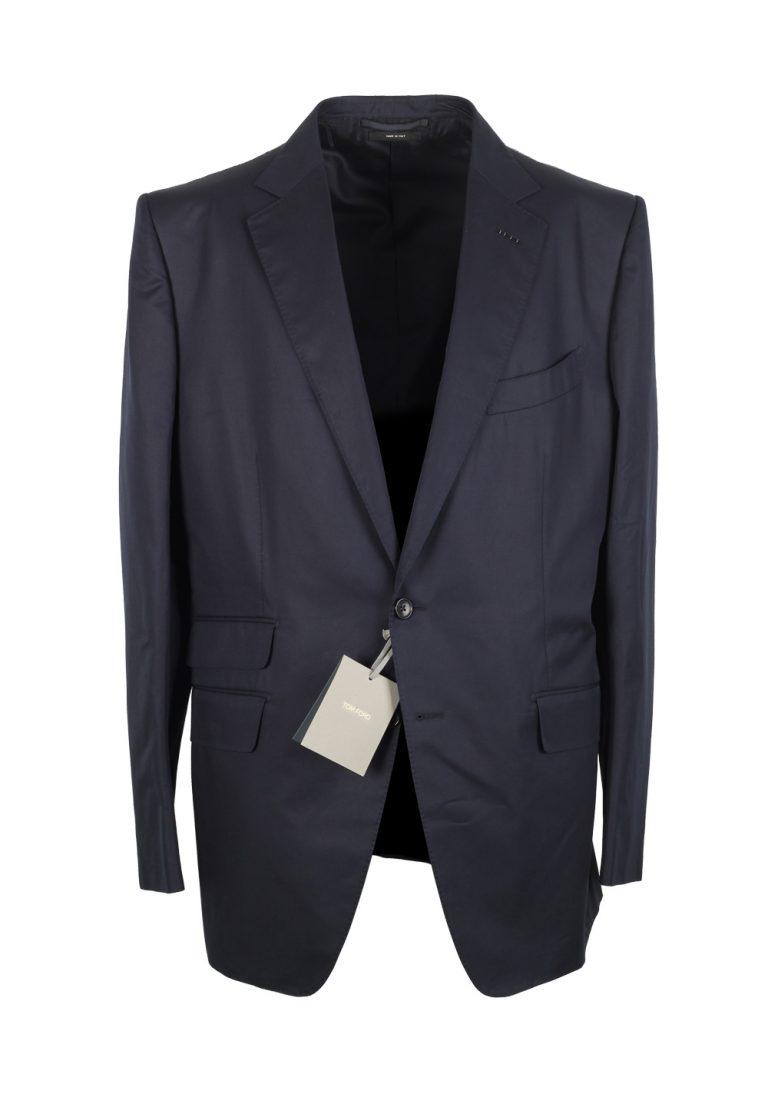 TOM FORD O'Connor Blue Suit Size 56 / 46R U.S. Cotton Fit Y - thumbnail | Costume Limité