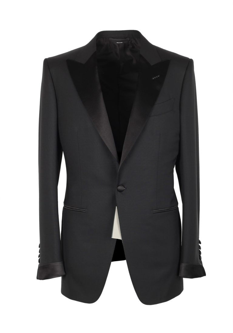 TOM FORD O'Connor Black Tuxedo Smoking Suit Size 46 / 36R U.S. Fit Y - thumbnail | Costume Limité