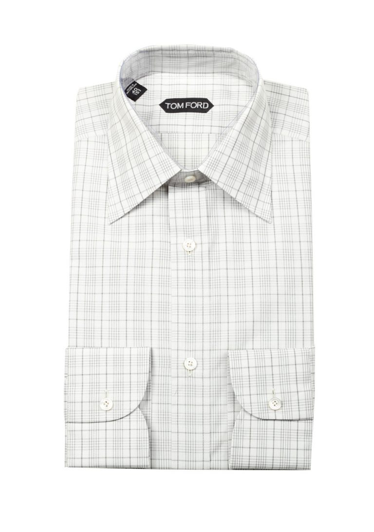 TOM FORD Checked Green Dress Shirt Size 40 / 15,75 U.S - thumbnail | Costume Limité