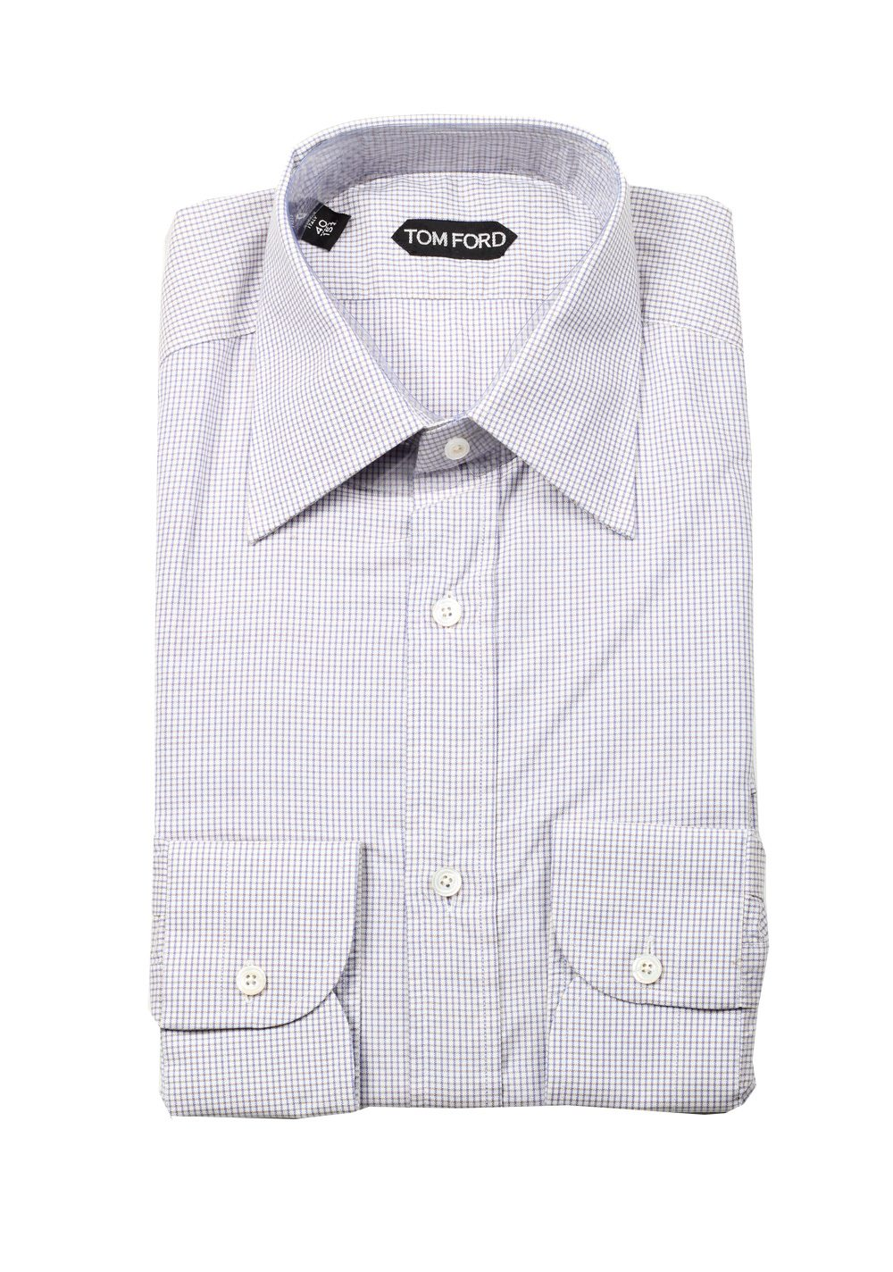Tom ford checked purple dress shirt size 40 15 75 u s for Size 15 dress shirt