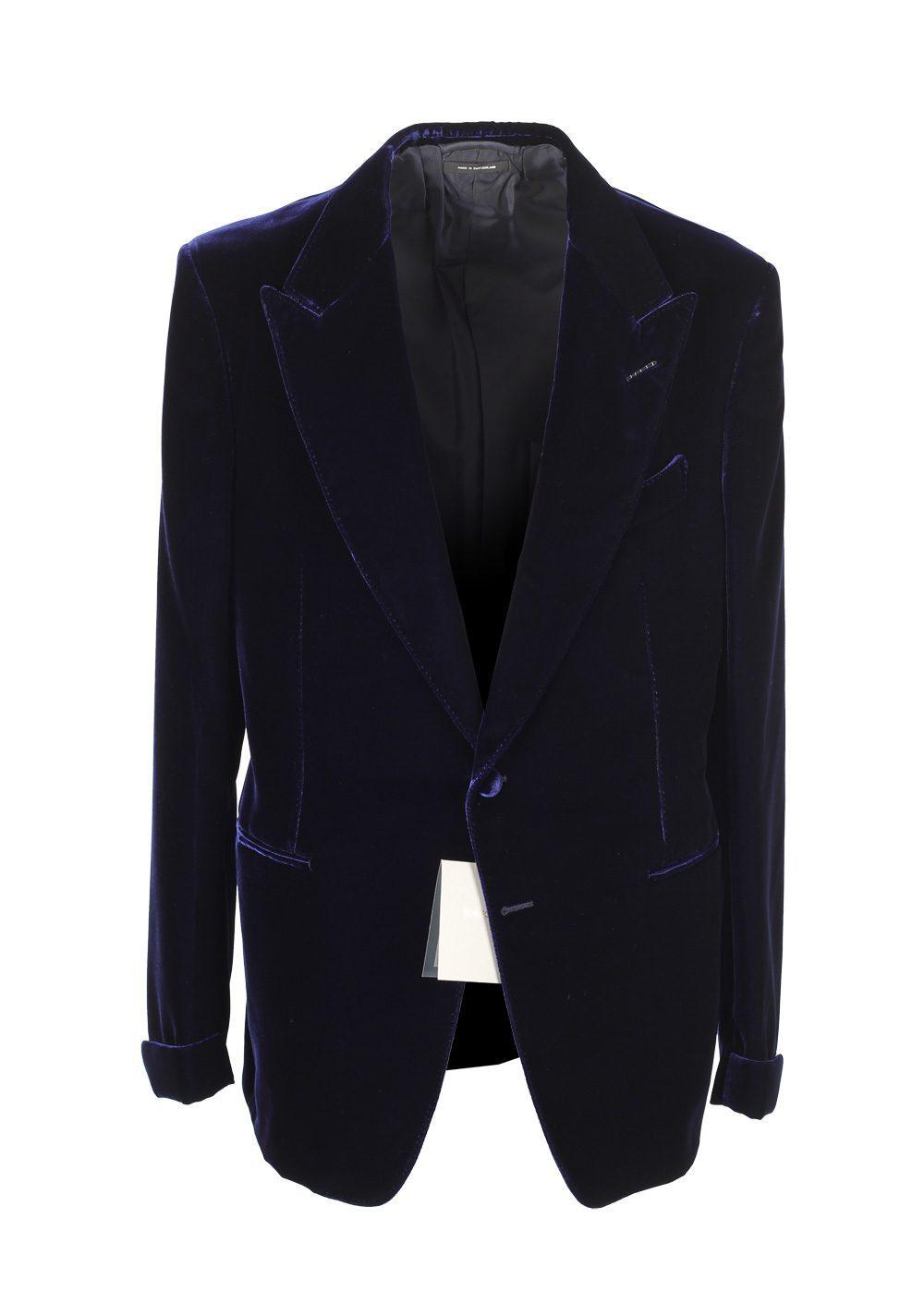 Tom Ford Shelton Blue Sport Coat Velvet Tuxedo Dinner