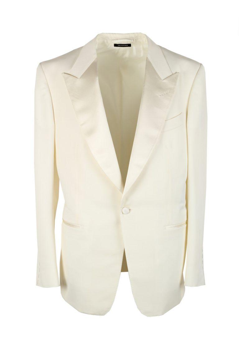 TOM FORD Windsor Ivory Sport Coat Tuxedo Dinner Jacket Size 52 / 42R U.S. Fit A - thumbnail | Costume Limité