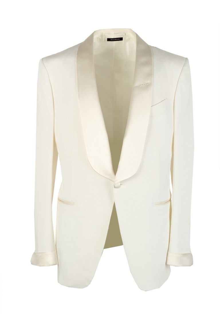 TOM FORD O'Connor Shawl Collar Ivory Sport Coat Tuxedo Dinner Jacket Size 50 / 40R U.S. Fit Y - thumbnail | Costume Limité