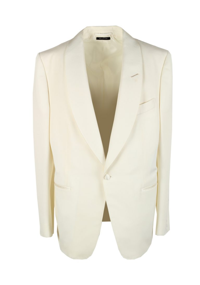 TOM FORD Windsor Shawl Collar Ivory Sport Coat Tuxedo Dinner Jacket Size 54 / 44R U.S. Fit A - thumbnail | Costume Limité