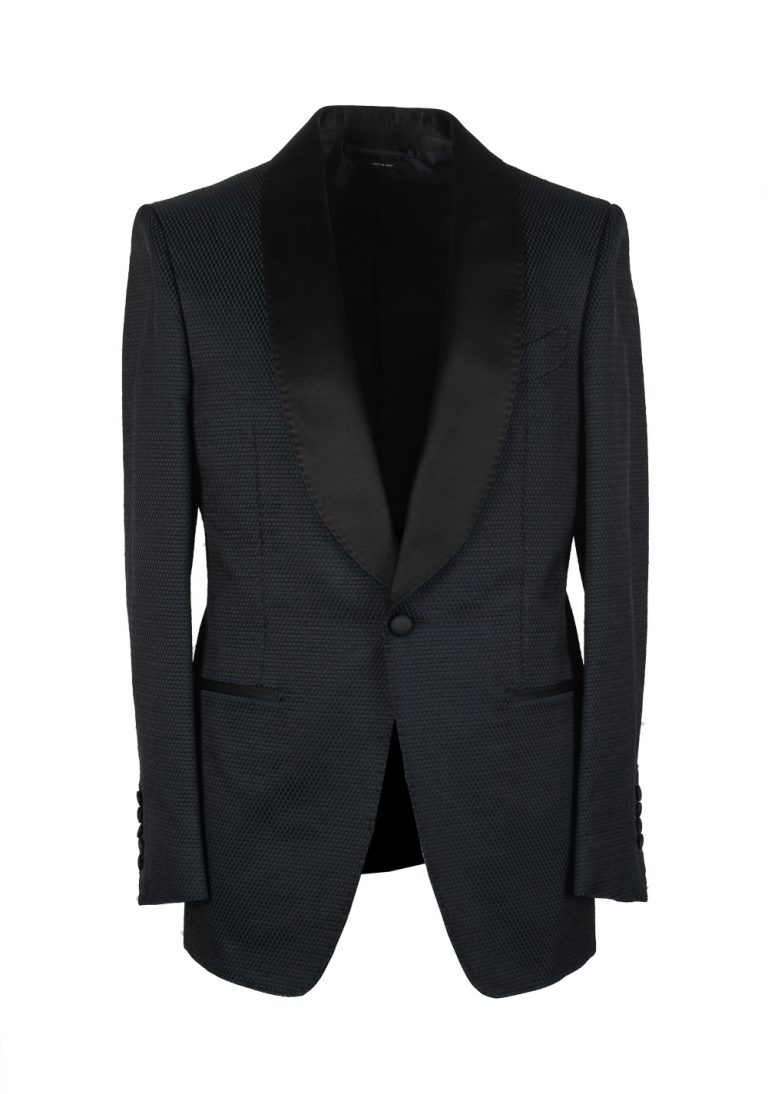 TOM FORD Shelton Green Black Sport Coat Tuxedo Dinner Jacket Size 46 / 36R U.S. - thumbnail | Costume Limité