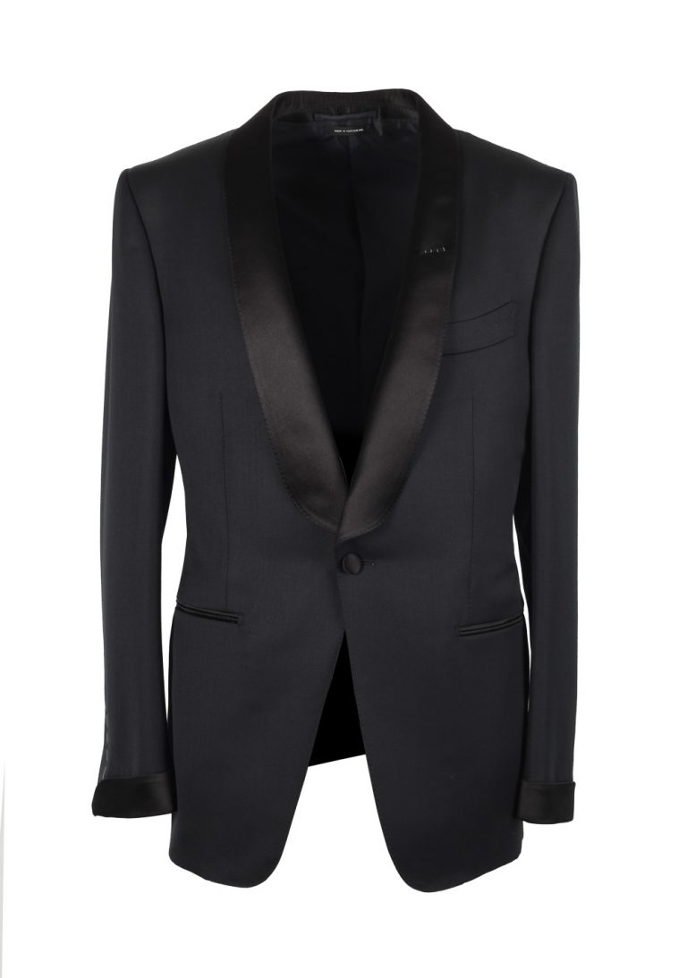 TOM FORD O'Connor Shawl Collar Black Sport Coat Tuxedo Dinner Jacket Size 48 / 38R U.S. Fit Y - thumbnail | Costume Limité