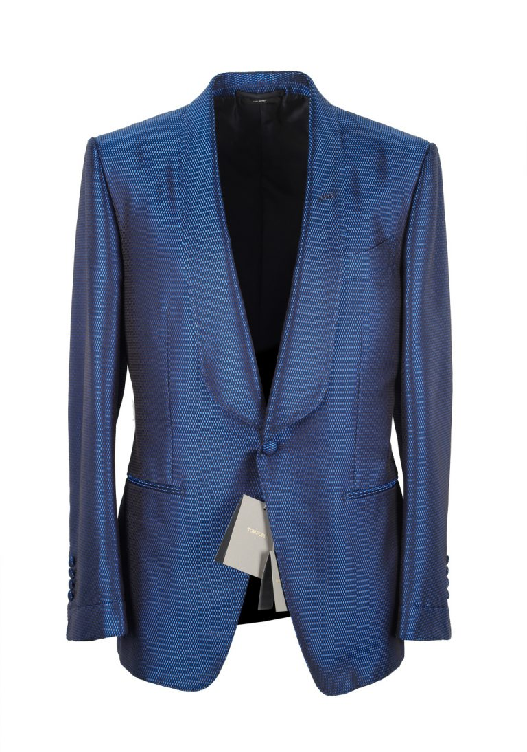 TOM FORD O'Connor Shawl Collar Blue Sport Coat Tuxedo Dinner Jacket Size 48 / 38R U.S. Fit Y - thumbnail | Costume Limité