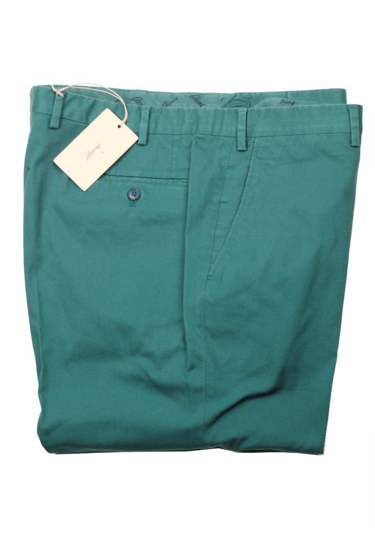 Brioni Green Tigullio Trousers Size 56 / 40 U.S. - thumbnail | Costume Limité