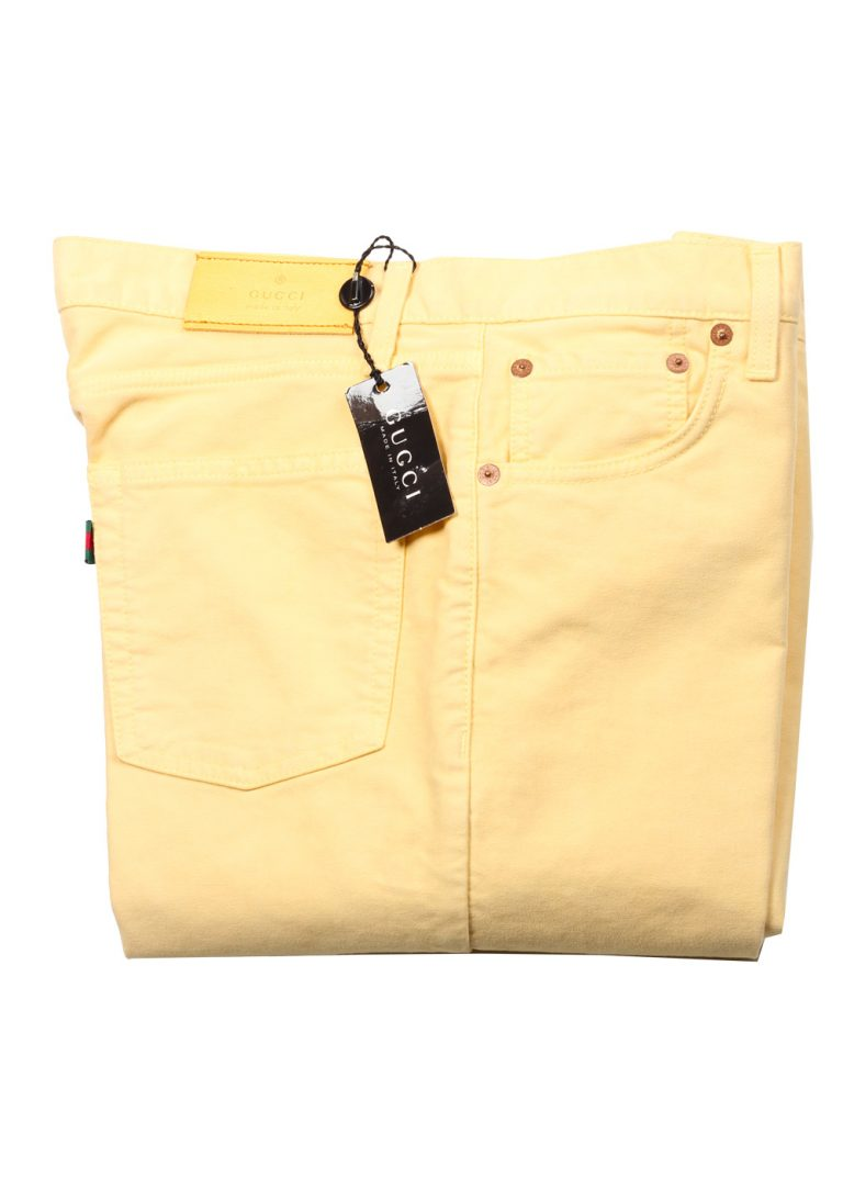 Gucci Yellow Trousers Size 46 / 30 U.S. In Cotton - thumbnail | Costume Limité