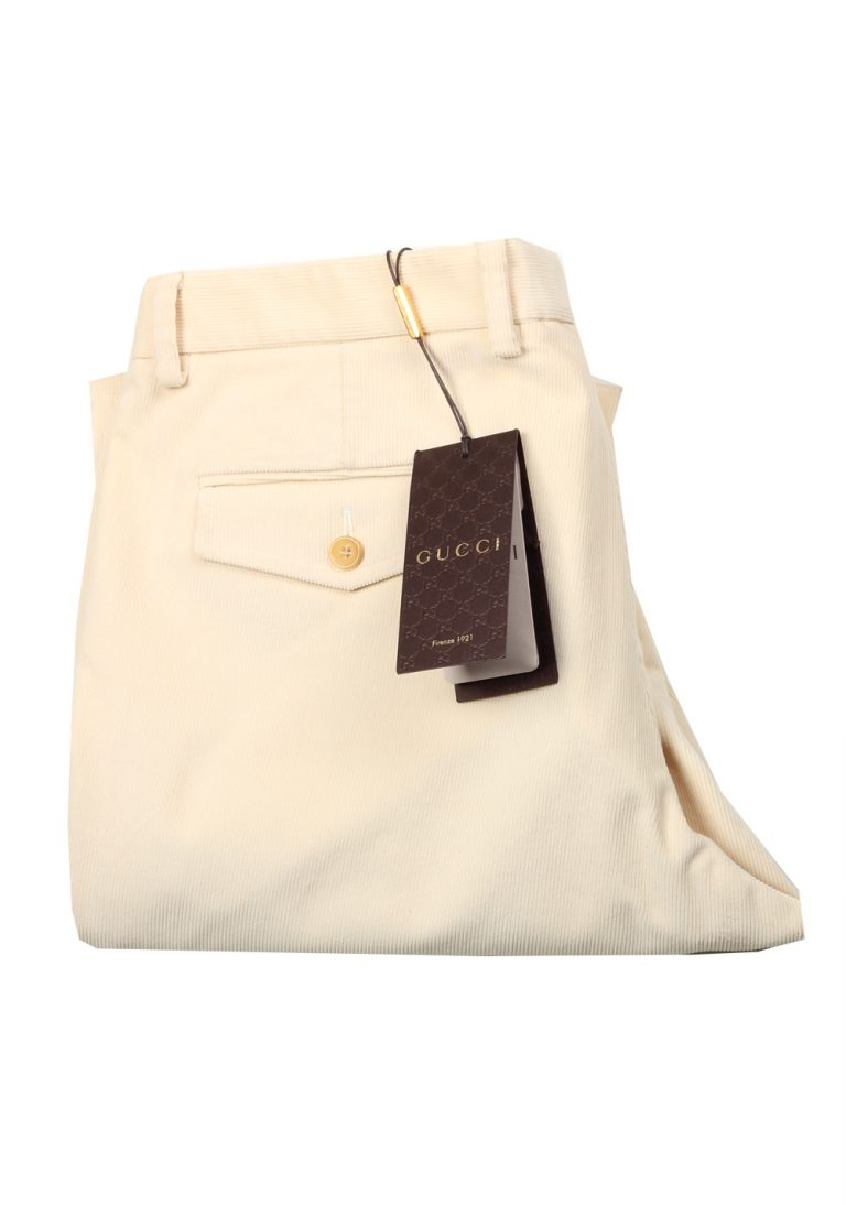 Gucci Off White Corduroy Trousers Size 52 / 36 U.S. In Cotton - thumbnail | Costume Limité