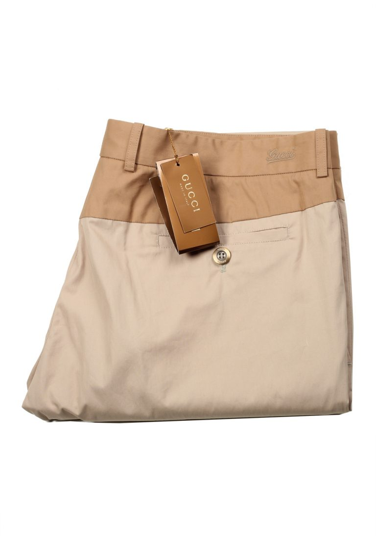 Gucci Beige Trousers Size 54 / 38 U.S. In Cotton - thumbnail | Costume Limité