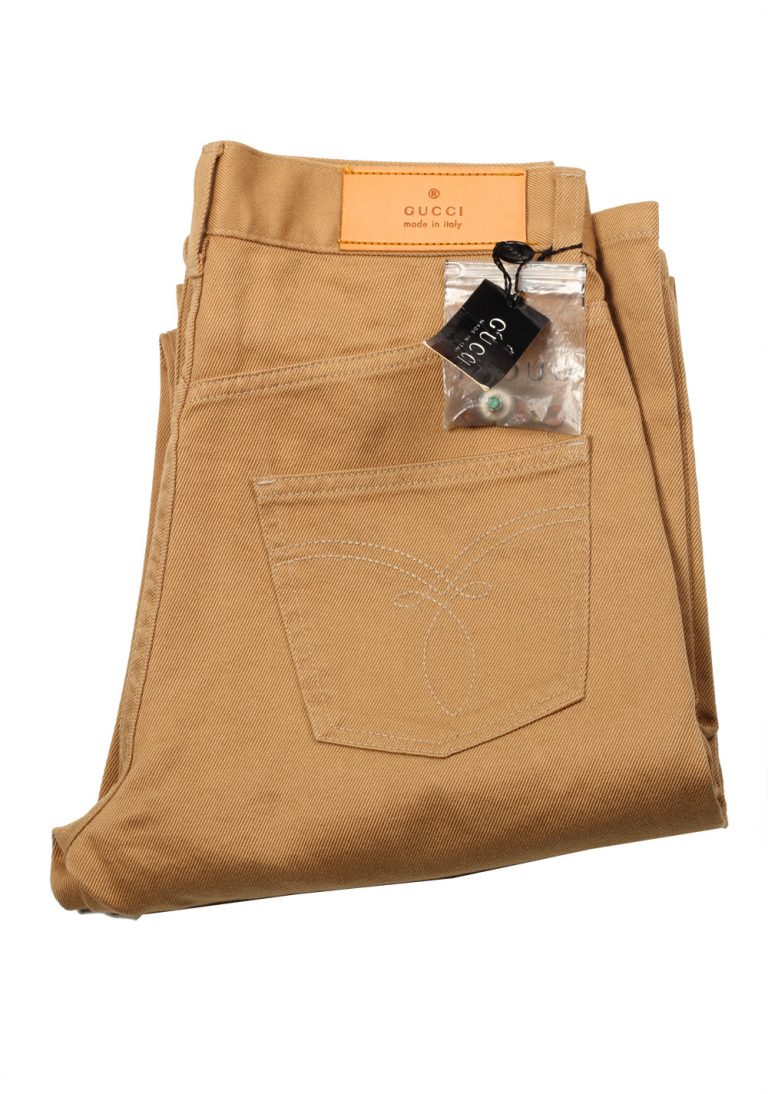 Gucci Beige Trousers Size 44 / 28 U.S. In Cotton - thumbnail | Costume Limité