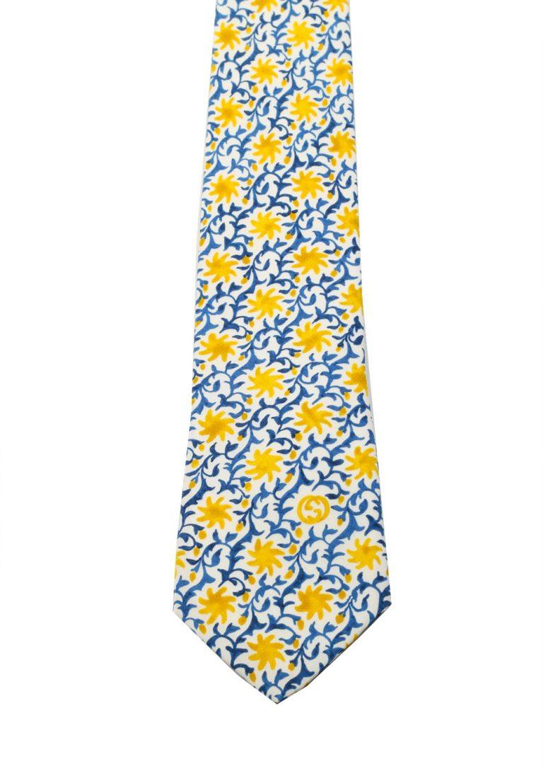 Gucci Blue Patterned Flower Tie - thumbnail | Costume Limité