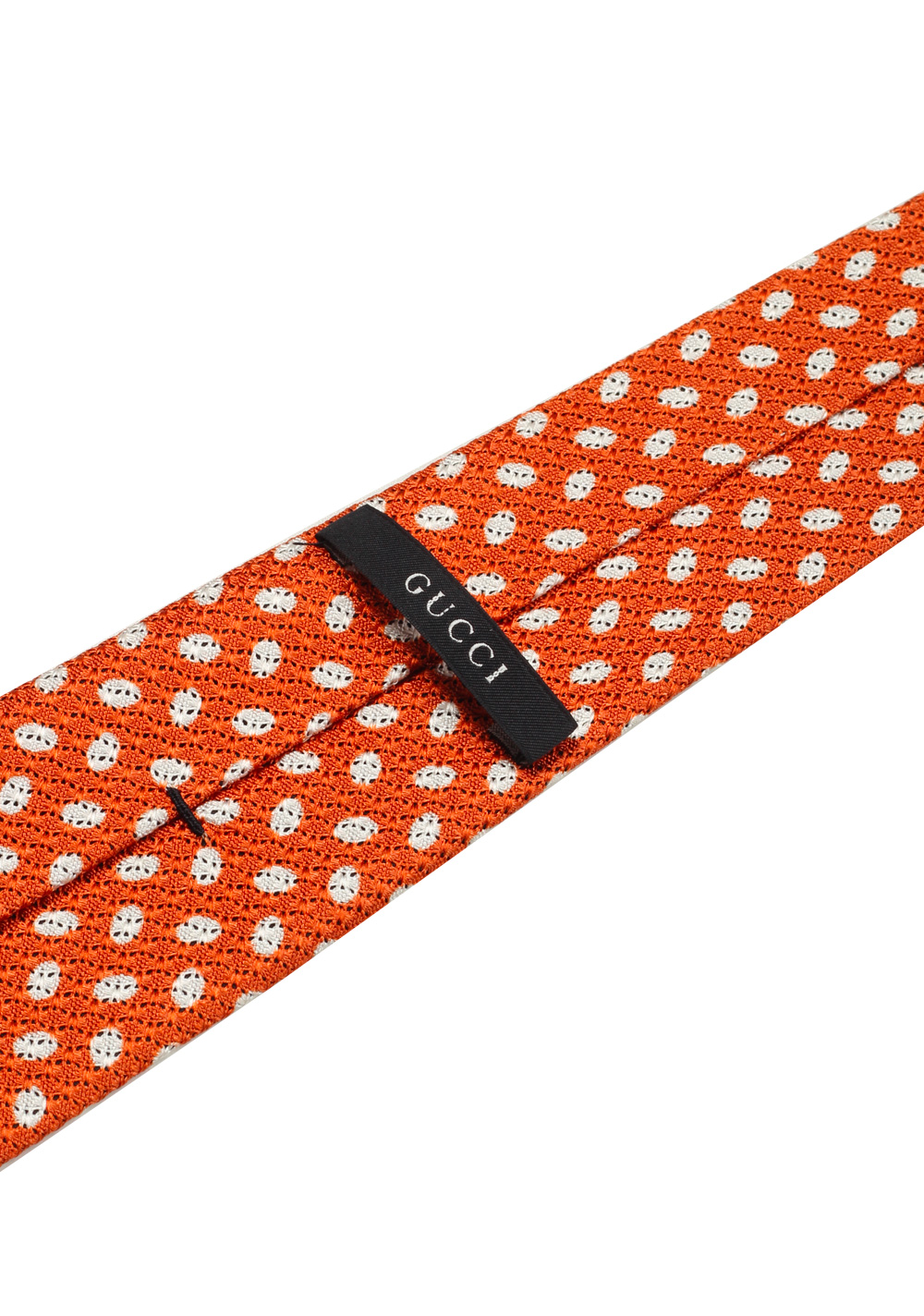 Gucci Orange Patterned Dot Tie | Costume Limité