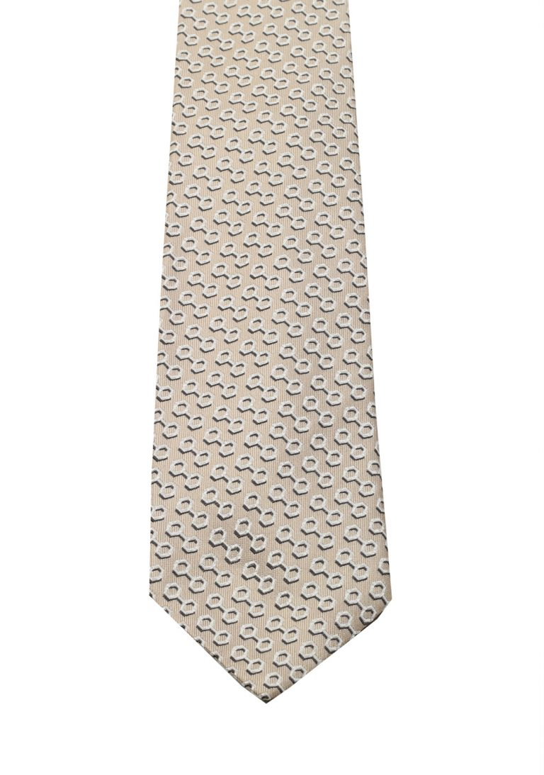 Gucci Beige Patterned Tie - thumbnail | Costume Limité