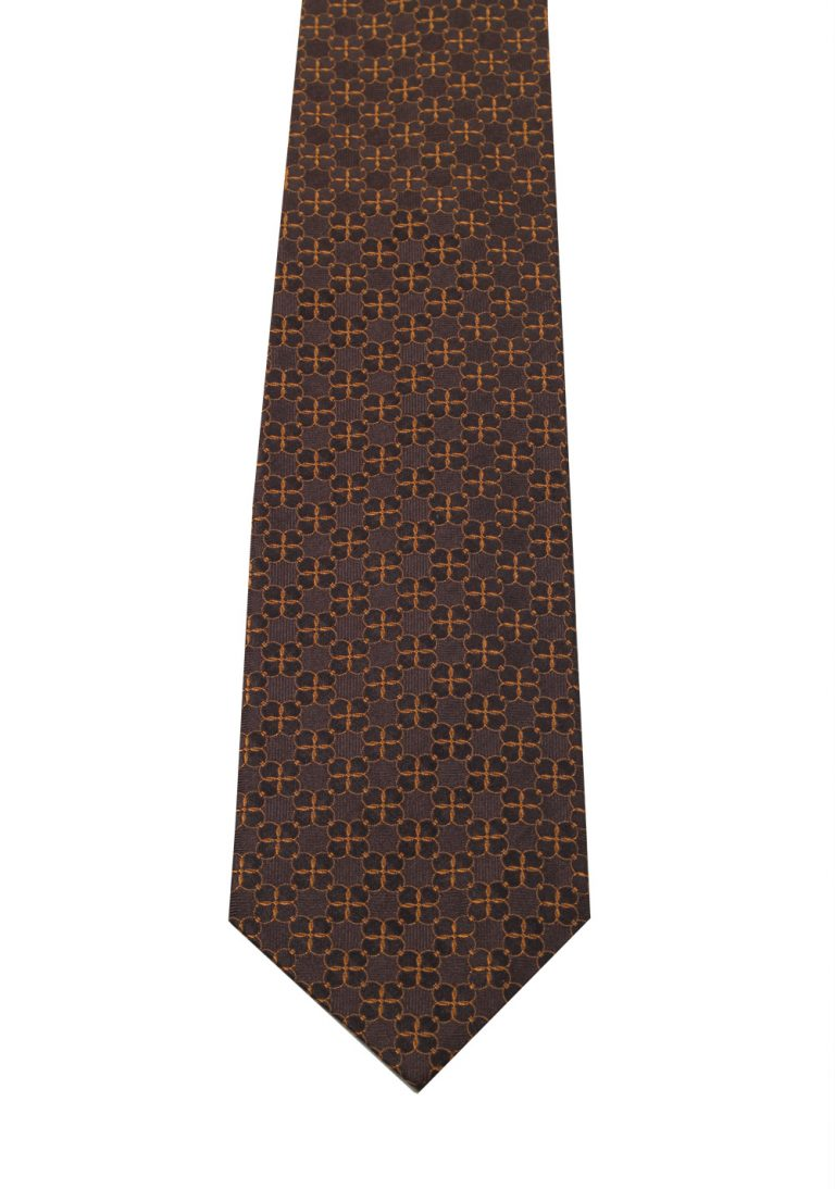 Gucci Brown Patterned Chain Tie - thumbnail | Costume Limité