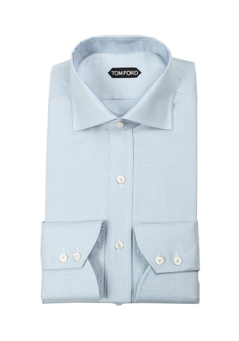 TOM FORD Patterned Blue / White Shirt Size 40 / 15,75 U.S. - thumbnail   Costume Limité