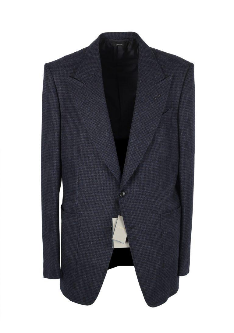 TOM FORD Shelton Blue Checked Sport Coat Size 54 / 44R Wool Alpaca Silk - thumbnail | Costume Limité