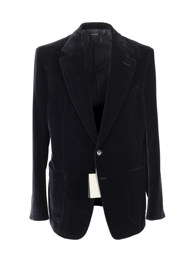 TOM FORD Shelton Velvet Black Sport Coat Size 52 / 42R U.S. Cotton - thumbnail | Costume Limité