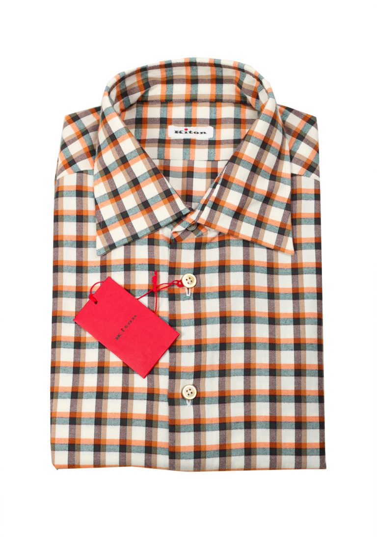 Kiton Checked Flannel Shirt 43 / 17 U.S. - thumbnail | Costume Limité