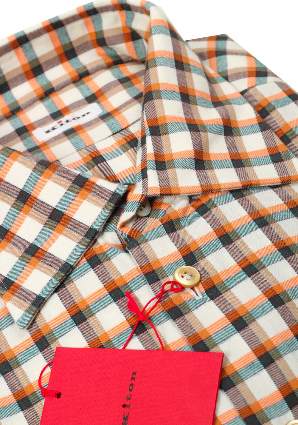 Kiton Checked Flannel Shirt 43 / 17 U.S. | Costume Limité