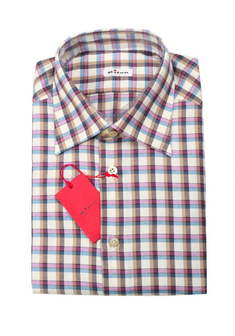 Kiton Checked Flannel Shirt 43 / 17 U.S. - thumbnail | Costume Limité