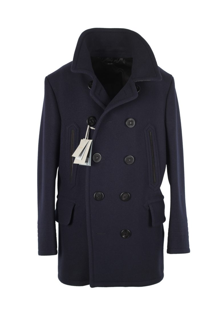 TOM FORD Navy Pea Coat Size 54 / 44R U.S. Outerwear - thumbnail | Costume Limité