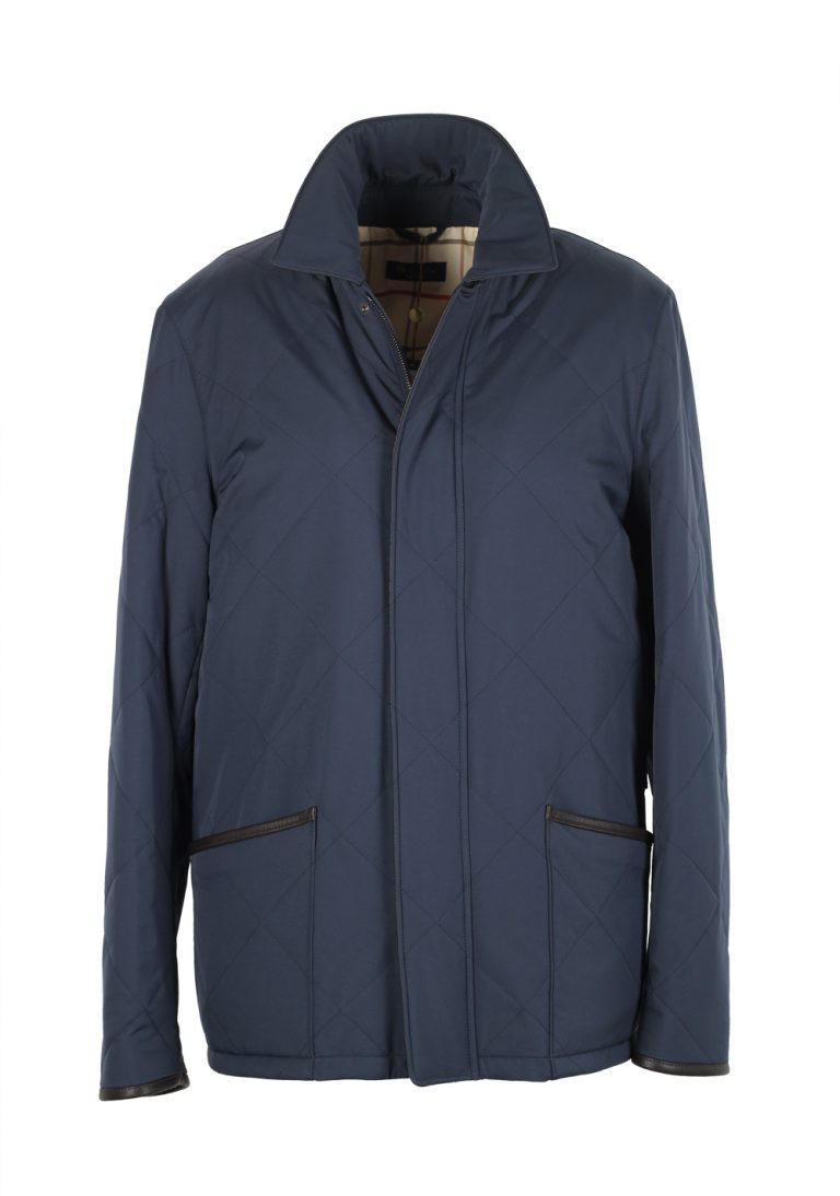 Loro Piana Blue Storm System Quilted Horsey Coat Size S Small Outerwear - thumbnail | Costume Limité