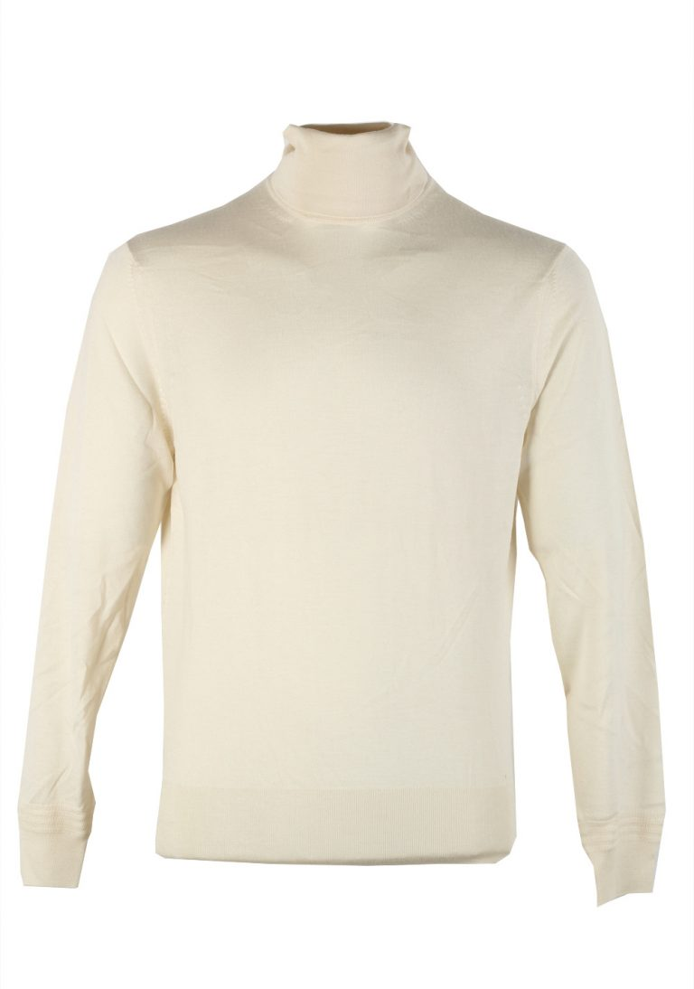 TOM FORD Ivory Turtleneck Sweater Size 48 / 38R U.S. In Cashmere Silk - thumbnail | Costume Limité
