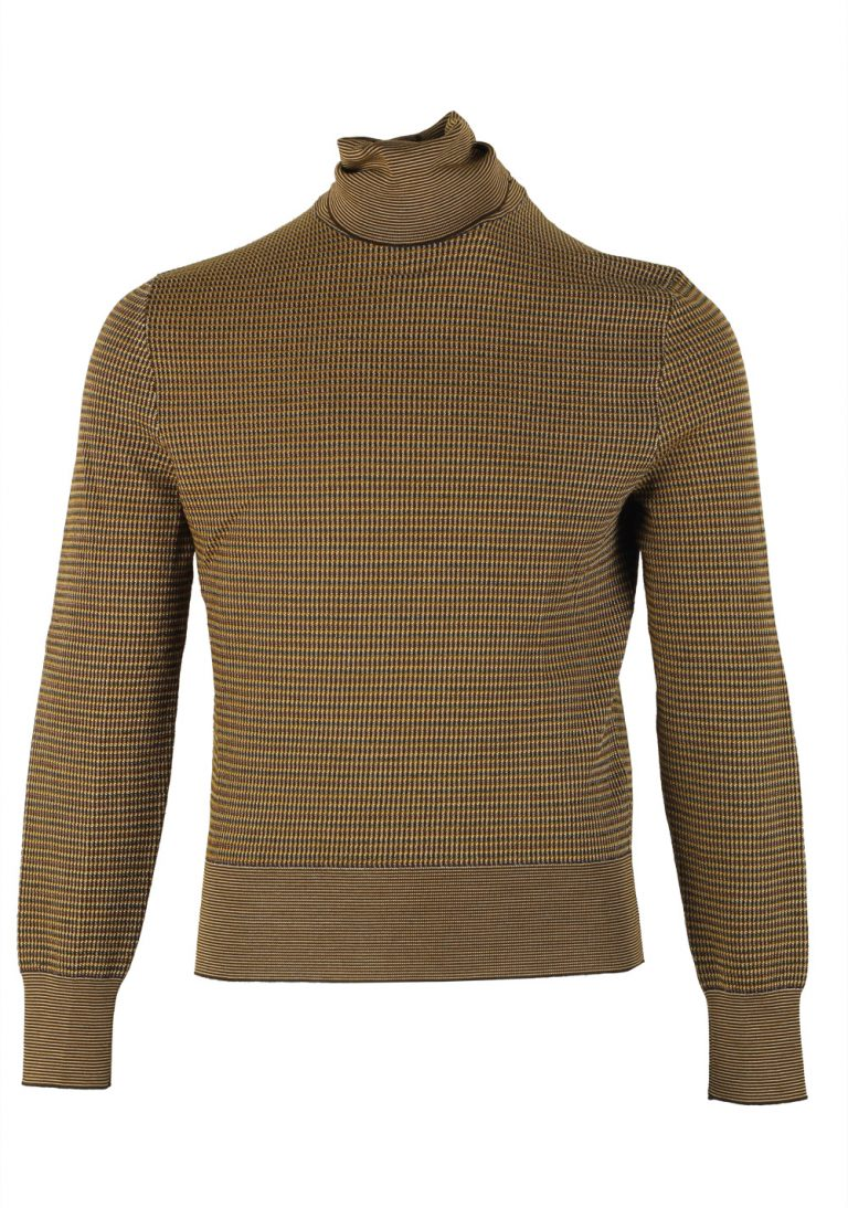 TOM FORD Brown Turtleneck Sweater Size 48 / 38R U.S. In Wool Silk - thumbnail | Costume Limité