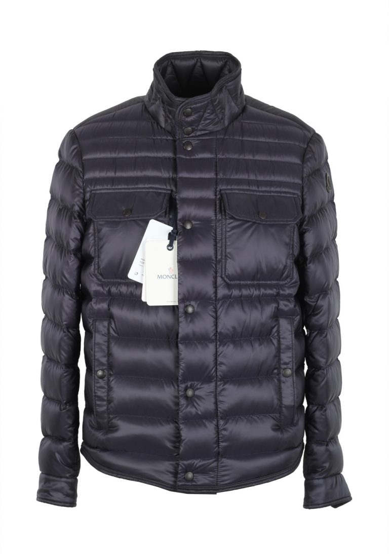 Moncler Blue Forbin Quilted Down Jacket Coat Size 1 / S / 46 / 36 U.S. - thumbnail | Costume Limité