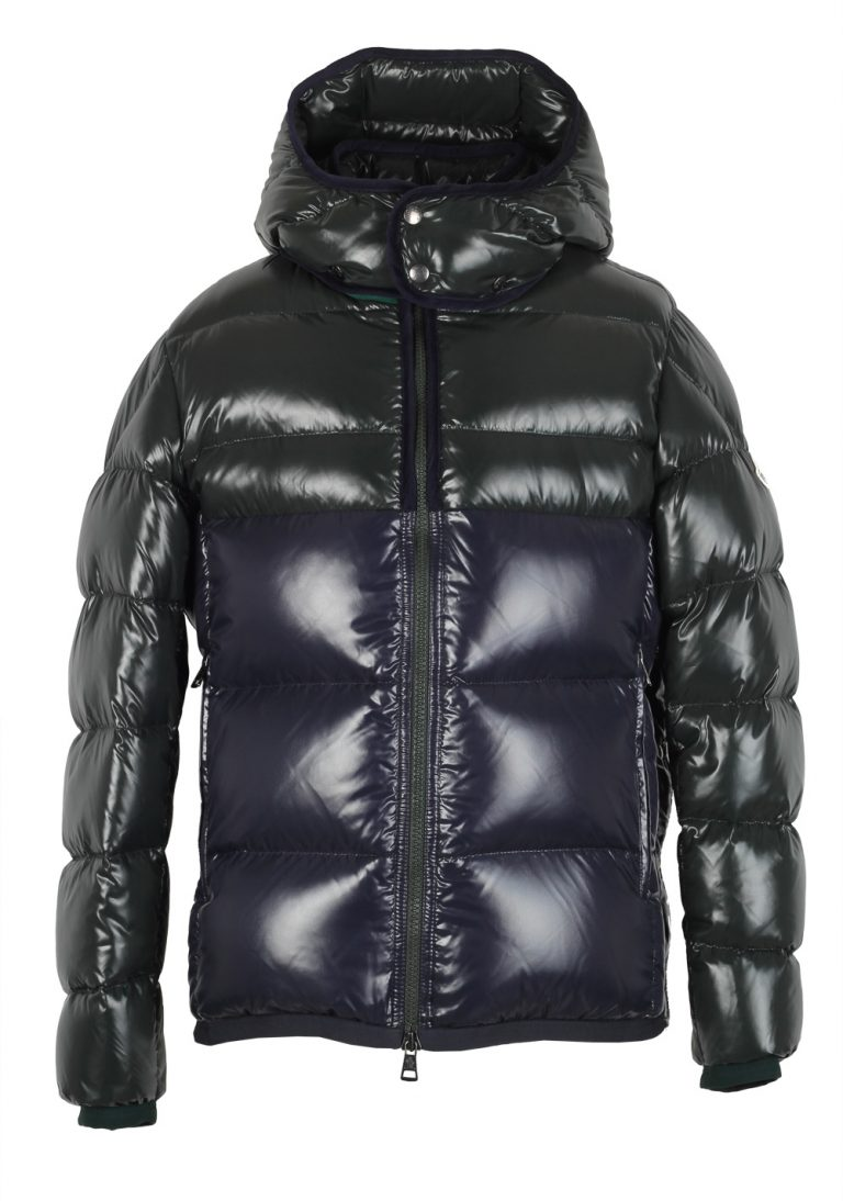 Moncler Blue Green Harry Quilted Down Jacket Coat Size 1 / S / 46 / 36 U.S. - thumbnail | Costume Limité