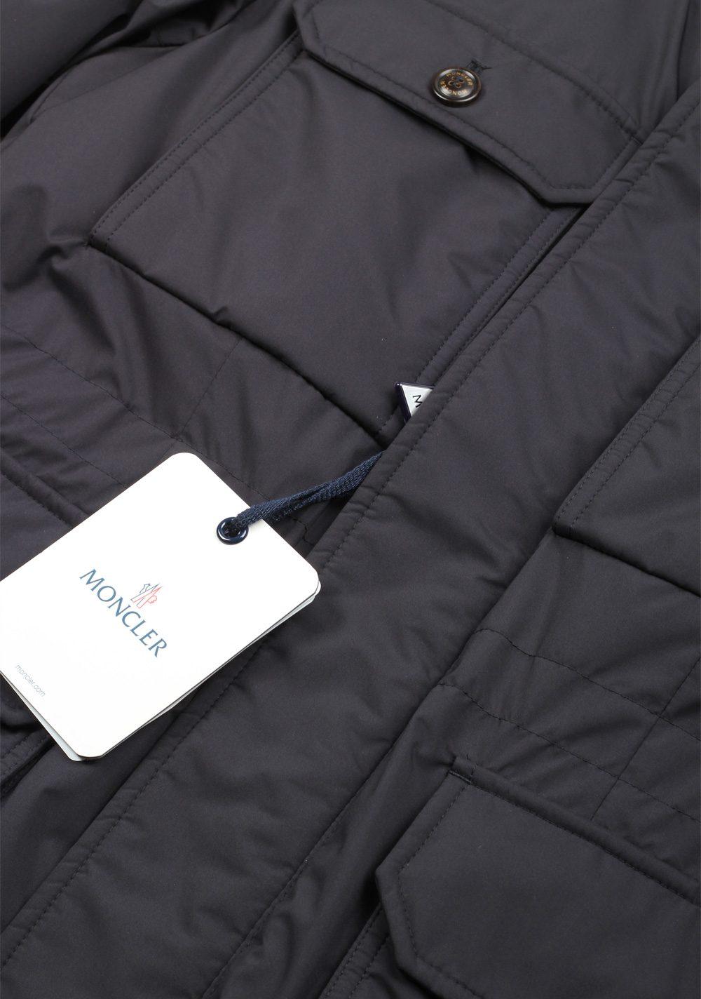 Moncler Blue Eusebe Field Jacket Coat Size 1 / S / 46 / 36 U.S. | Costume Limité