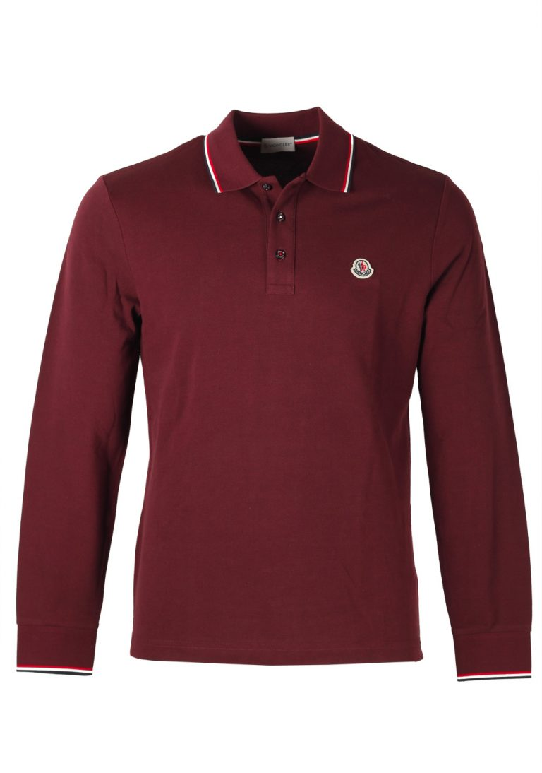 Moncler Red Long Sleeve Polo Shirt Size L / 40R U.S. - thumbnail | Costume Limité