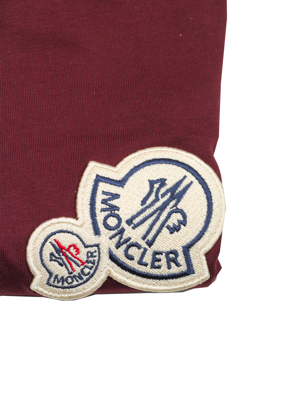 Moncler Red Brand Patch Crew Neck Tee Shirt Size M / 38R U.S. | Costume Limité