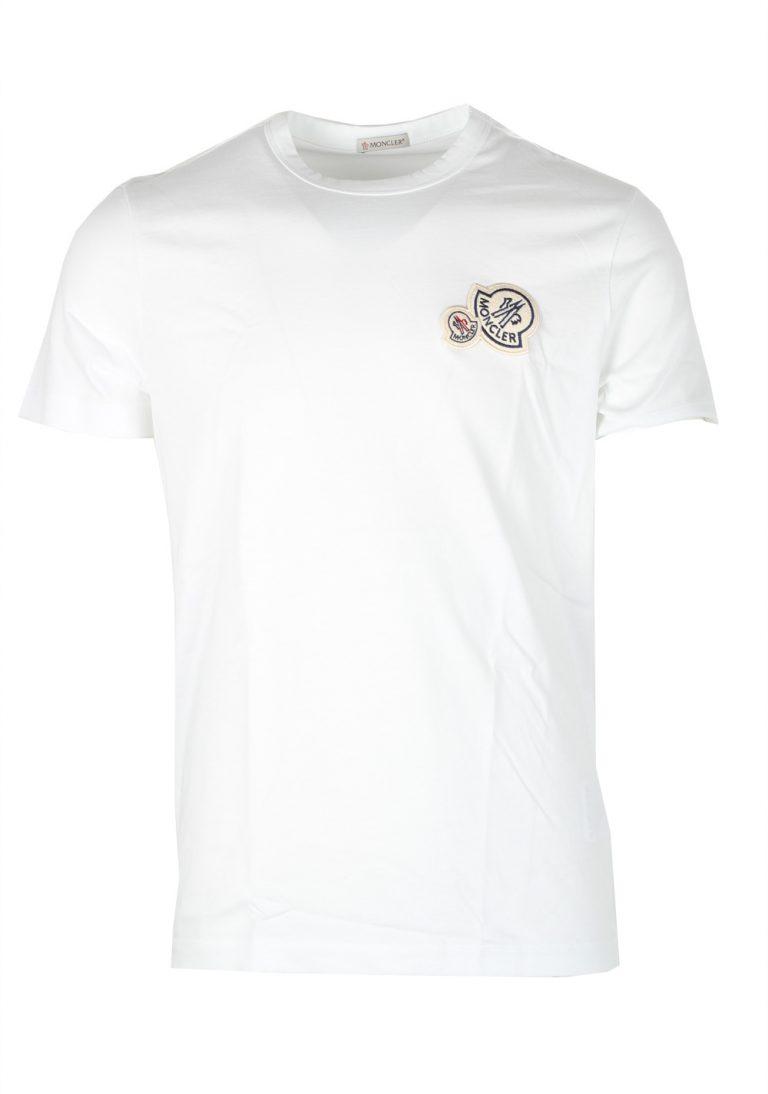 Moncler White Brand Patch Crew Neck Tee Shirt Size L / 40R U.S. - thumbnail | Costume Limité