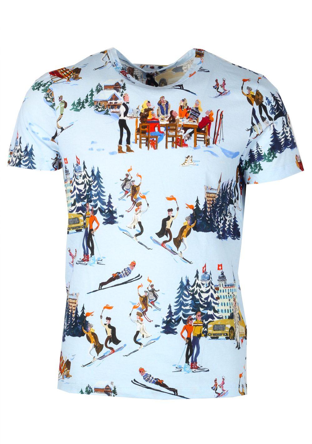 Moncler x Jean-Philippe Delhomme  Blue Tee Shirt Size S / 36R U.S.   Costume Limité