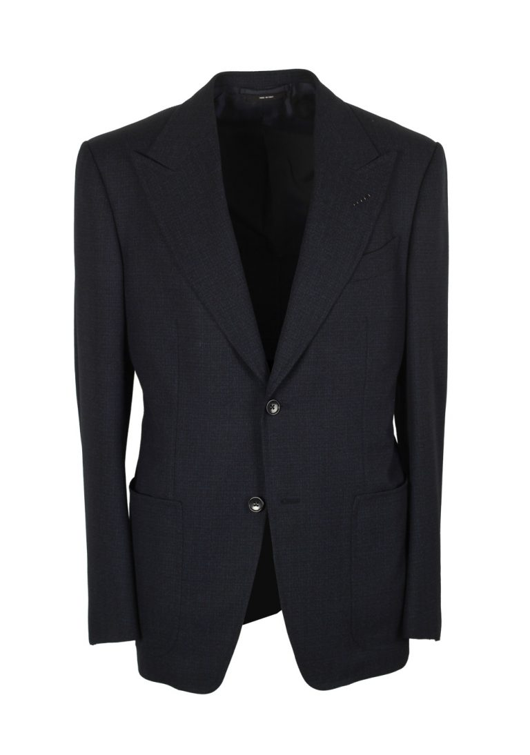 TOM FORD Spencer Navy Sport Coat Size 58 / 48R U.S. Wool Silk Fit D - thumbnail | Costume Limité
