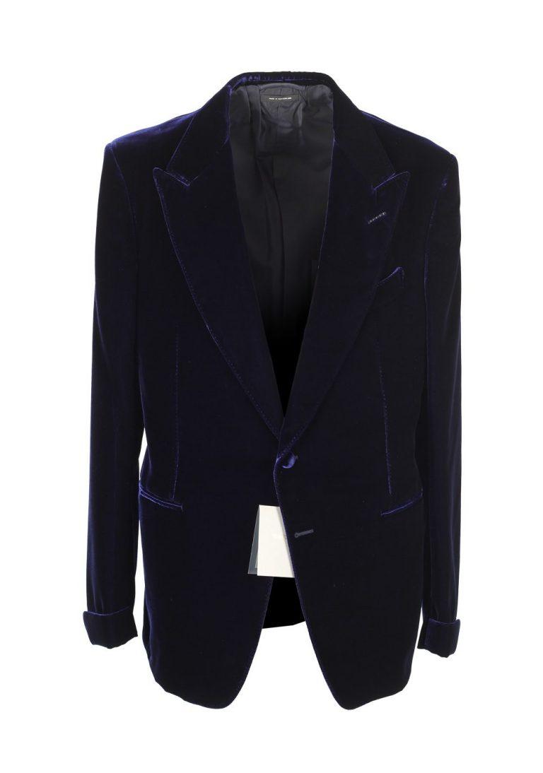 TOM FORD Shelton Blue Sport Coat Velvet Tuxedo Dinner Jacket Size 50L / 40L U.S. - thumbnail | Costume Limité