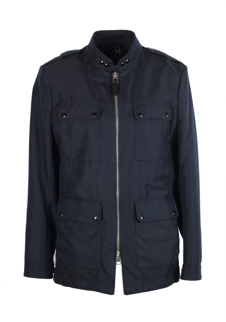 TOM FORD Blue Military Field Jacket Coat Size 50 / 40R U.S. Outerwear - thumbnail | Costume Limité