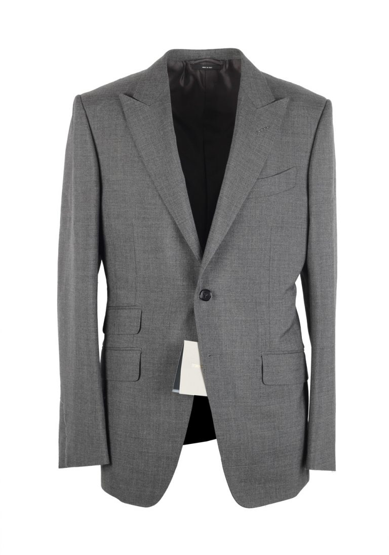 TOM FORD O'Connor Gray Suit Size 48 / 38R U.S. Mohair Fit Y - thumbnail | Costume Limité