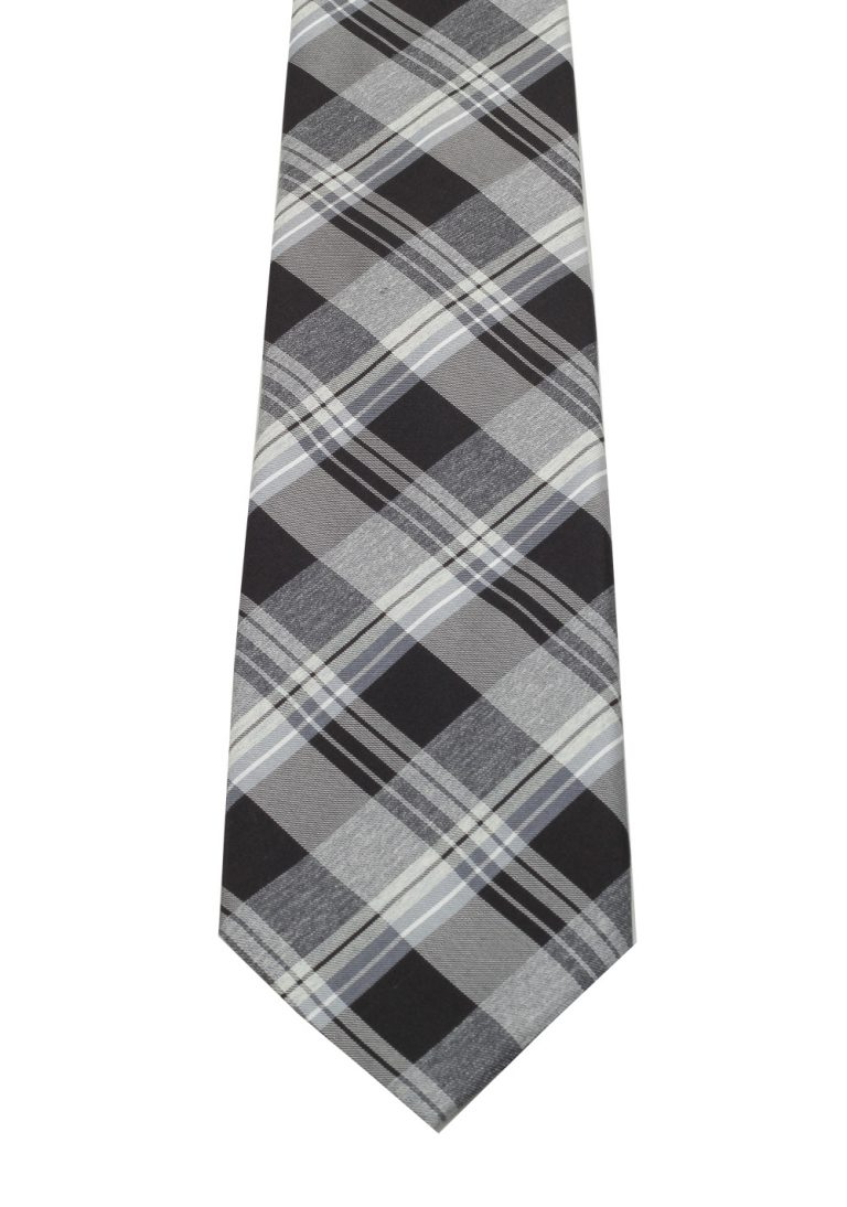 TOM FORD Checked Gray Tie In Silk - thumbnail | Costume Limité