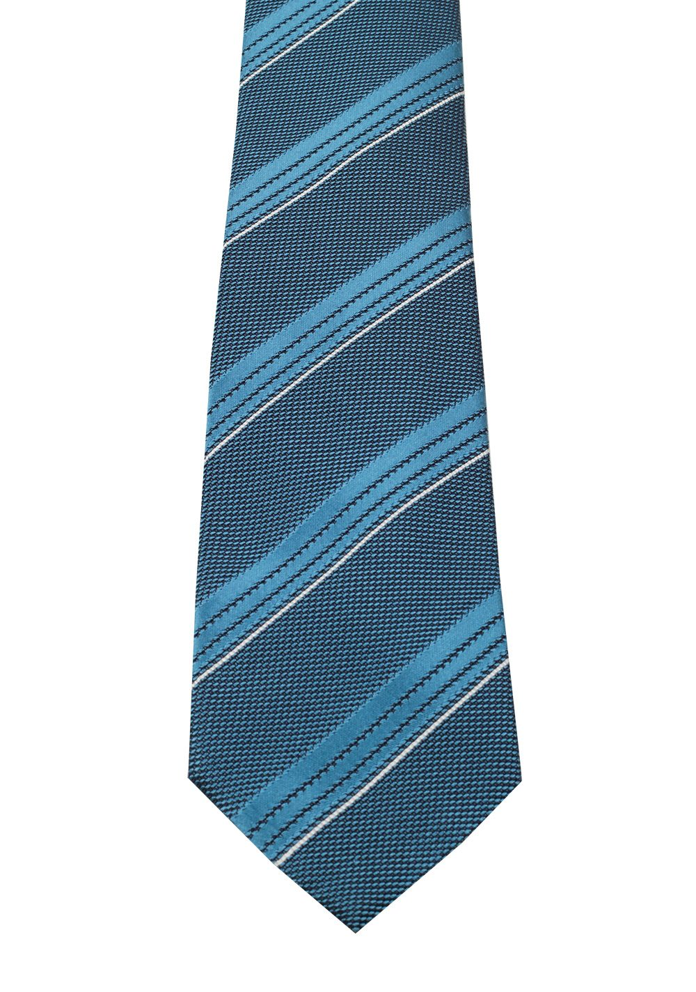 TOM FORD Striped Blue Tie In Silk | Costume Limité
